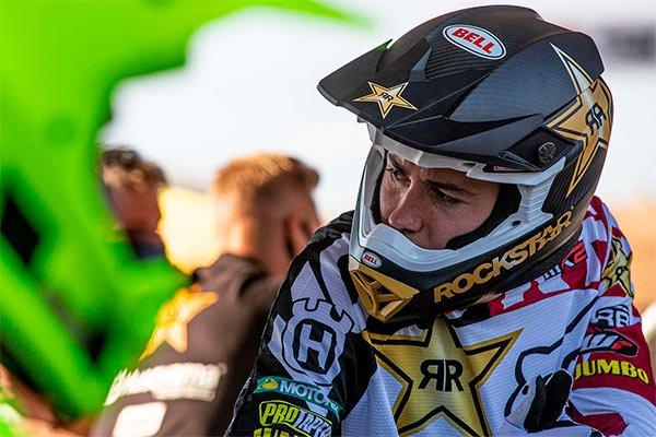 Australian Motocross rider Jed Beaton at the 2021 MXGP of Sardegna in Italy