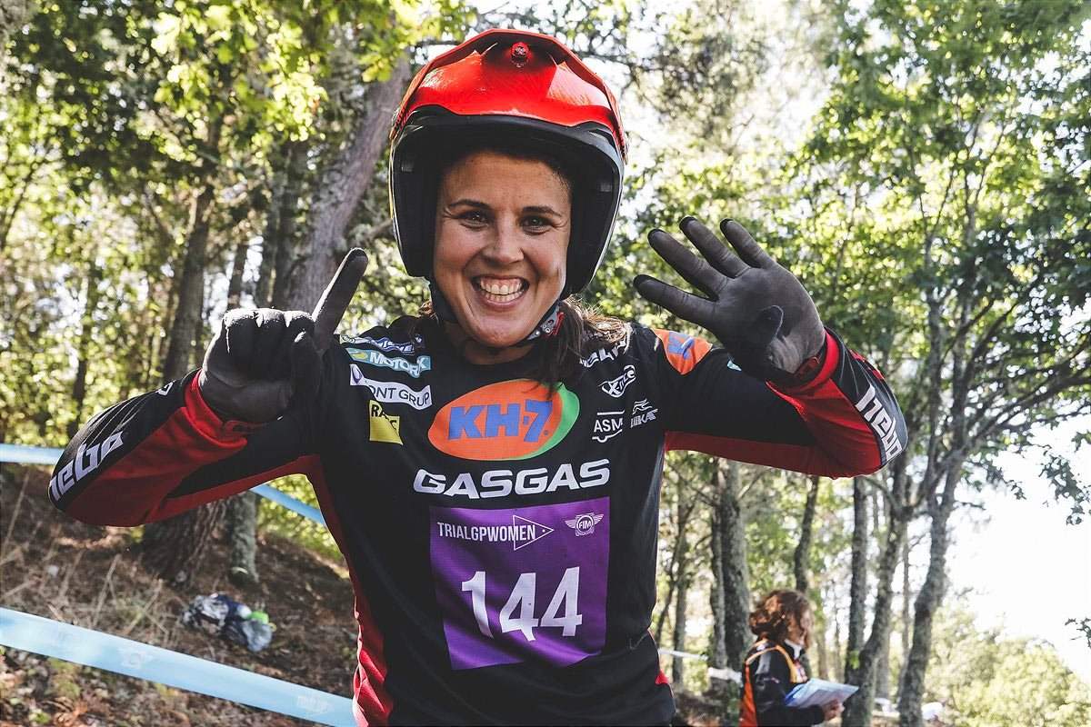 Laia Sainz has extended her TrialGP run to 14 titles