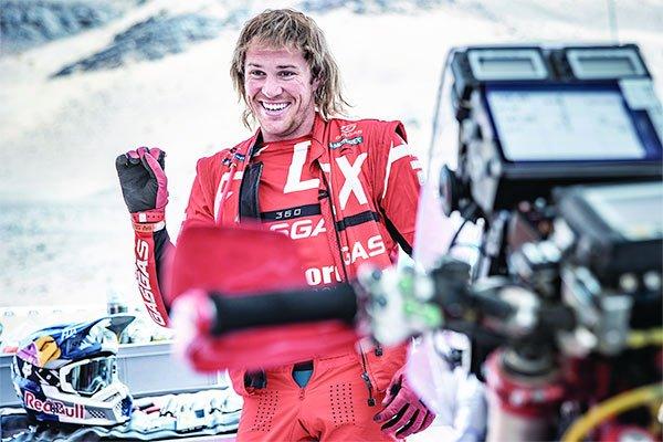 GasGas rider Daniel Sanders on stage four of the 2021 Rally Du Maroc