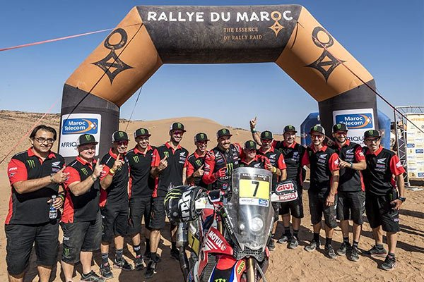 Pablo Quintanilla on the final satge of the the 2021 Morocco Rally