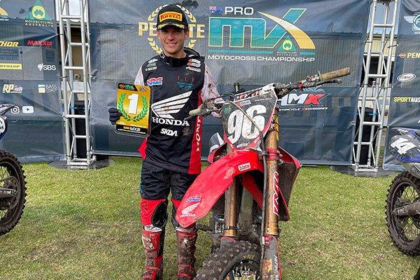 2021 ProMX MX2 Champion Honda Racing's Kyle Webster